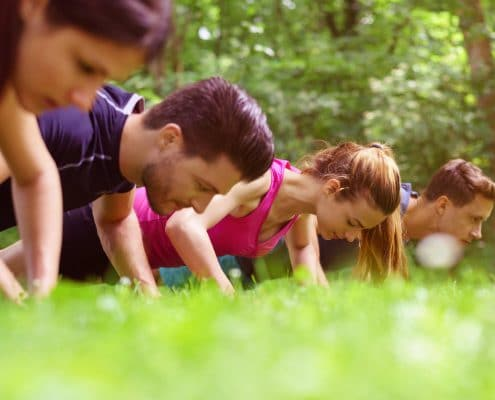Outdoor Training Düsseldorf mit IQ BODY